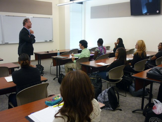 Human Rights talk at Houston law schools