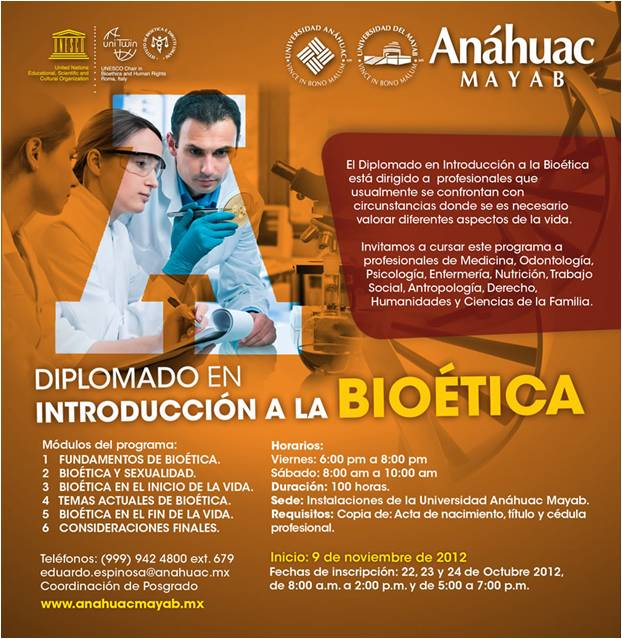 UNESCO Chair Promotes new Bioethics Diploma in Mexico