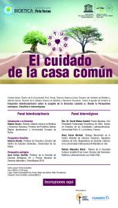 Poster Panel El cuidado de la casa común - 19 noviembre 2015 - UFT