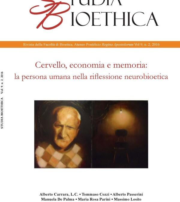 "Studia Bioethica journal devoted to ""The Brain, Economics, and Memory"""