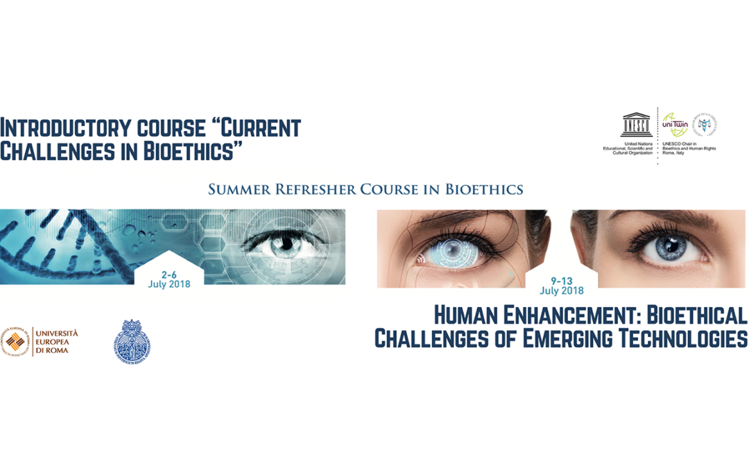 17th SUMMER COURSE IN BIOETHICS. Human Enhancement: Bioethical Challenges of Emerging Technologies