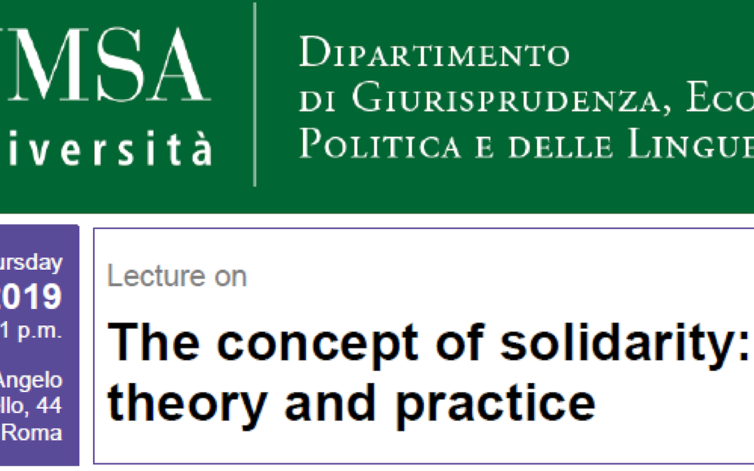 The concept of solidarity: between theory and practice