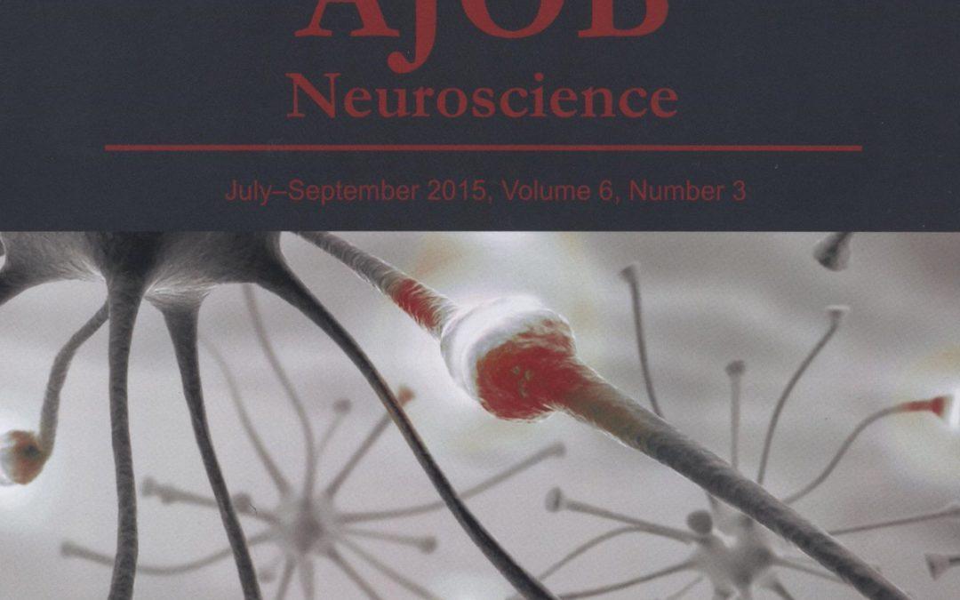 Prof. Mirko D. Garasic, UNESCO Chair Research Scholar, published in AJOB Neuroscience: