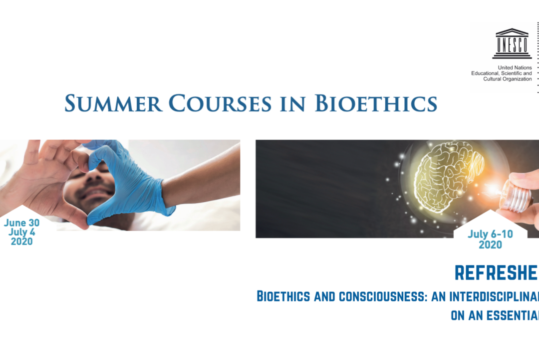 19th SUMMER COURSE IN BIOETHICS -Bioethics and Consciousness: an interdisciplinary and interreligious reflection on an essential dimension of the human person
